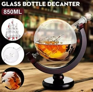 Whiskey Decanter Globe Wine Glass